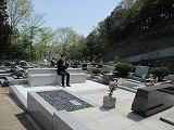 '15春に広がった墓前のスペース