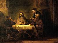 「エマオの晩餐」レンブラント