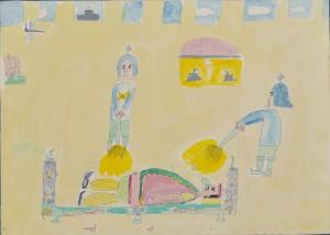 富山県富山市 八人町小学校 田代 充(3年) 「ねむり王様の絵」