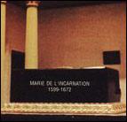 福者マリー・ド・レンカルナシオンのお墓(カナダ・ケベック)